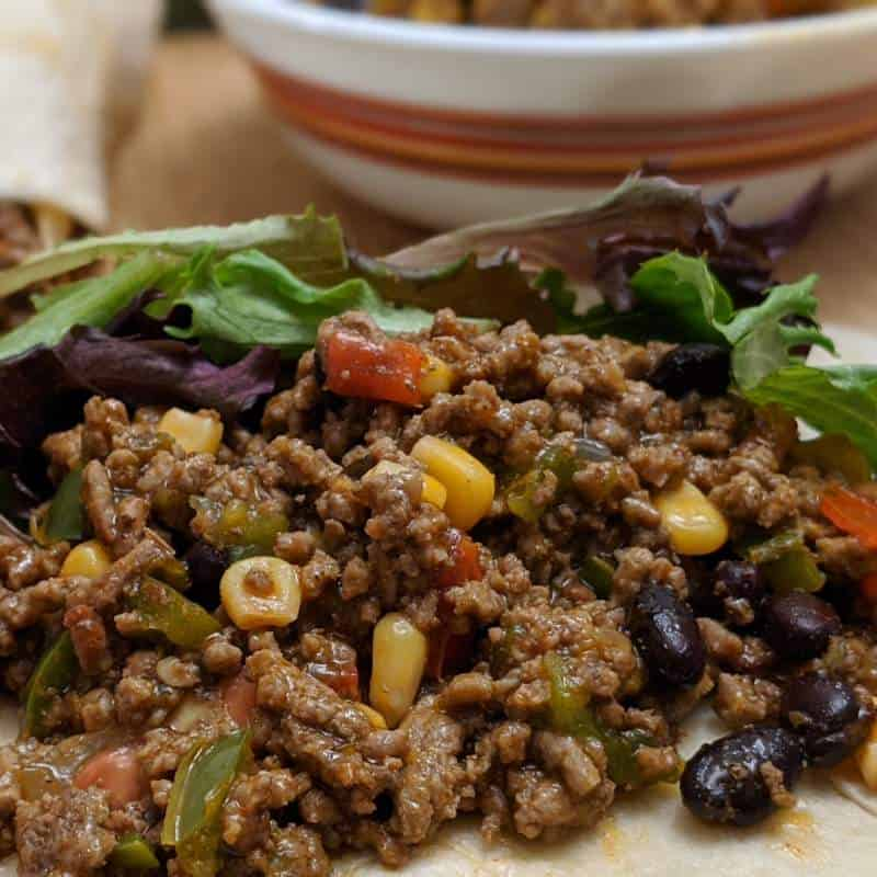 A low sodium meat mix for the burrito and taco recipe. An excellent recipe with no added sodium that is kidney healthy.