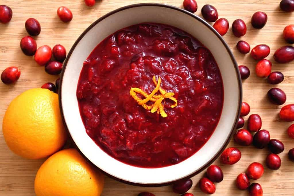 A delicious presentation of our kidney healthy cranberry sauce.